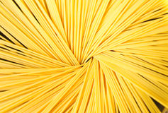 Spagetti. Uncooked spagetti in a pot creating a nice pattern Stock Photo