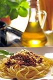Spagetti. Dish italian spagetti a'la bolonese Royalty Free Stock Photography