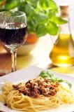 Spagetti. Dish italian spagetti a'la bolonese Royalty Free Stock Images