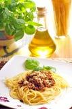 Spagetti. Dish italian spagetti a'la bolonese Royalty Free Stock Photo