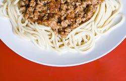spagetti Royaltyfria Bilder