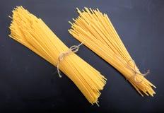 Spagetti on black background. Spagetti pasta on black background Royalty Free Stock Image