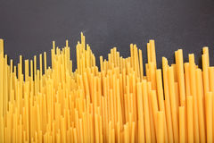 Spagetti on black background Stock Photography