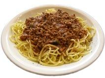 Spagetti boloñés Foto de archivo libre de regalías