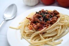 Spagetti boloñés Imagen de archivo