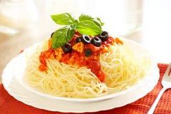 Spagetti Bolognese Fotografering för Bildbyråer