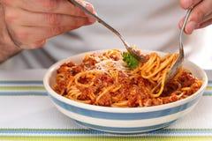 Spagetti bolognese Royaltyfri Foto