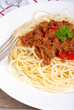 Spagetti Bolognese detail Stock Images