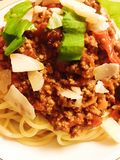 Spagetti bolognese Royalty Free Stock Photos