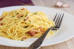Spagetti carbonara Stock Image