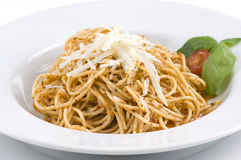 Spagetti com queijo Fotografia de Stock Royalty Free