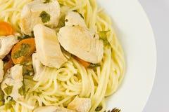 Spagetti con la carne Foto de archivo
