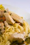 Spagetti con la carne Fotografía de archivo