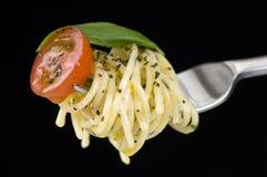 Spagetti en fork Imagen de archivo