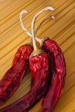 spagetti för chilipepparred Arkivfoto