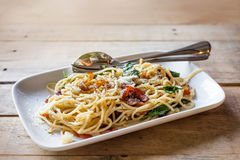 Spagetti italian food Royalty Free Stock Photo