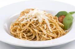 Spagetti met kaas Royalty-vrije Stock Fotografie