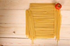 Spagetti och tomat Arkivbild