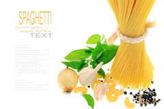Spagetti with simple text. Spagetti with simple replaceable text Royalty Free Stock Photography