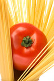 Spagetti and tomato Stock Photo