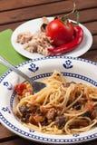 Spagetticarrettiera arkivfoton