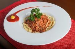 Spagettinötkött Royaltyfria Bilder