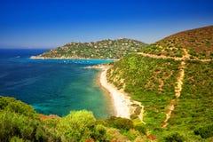 Spaggia di Genne Mari échouent sur l'île de la Sardaigne Photographie stock libre de droits