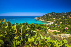 Spaggia di Genne Mari beach on Sardinia Island. Royalty Free Stock Photo