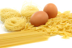 Spagheti asortment eggs Stock Photo