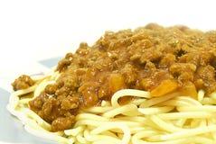 Spaghett branco cozinhado Imagens de Stock