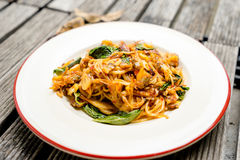 Spaghetti épicés Image stock