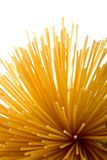 Spaghetti. A bunch of uncooked Spaghetti against white background Stock Images