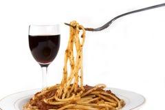 Spaghetti royalty-vrije stock afbeeldingen