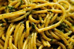 Spaghetti 2 de Pesto Image stock