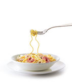 Ollo Aglio Spaghetti. A plate of delicious alio aglio spaghetti with prawns Stock Photography
