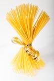 Spaghetti. Bunch of spaghetti pasta  on white background Royalty Free Stock Photos