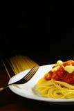 Spaghetti Photographie stock libre de droits