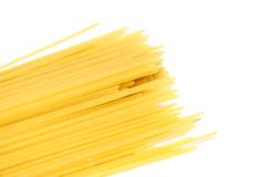 Spaghetti. On white background Stock Images