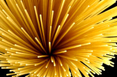 Spaghetti. Pasta in background black Stock Images