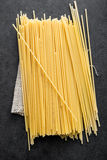 Spaghetti from above Royalty Free Stock Image