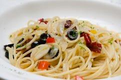 Spaghetti Aglio E Olio Fotografia Stock