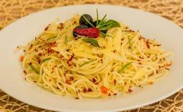 Spaghetti aglio e olio Zdjęcia Royalty Free