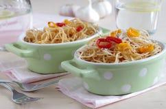 Spaghetti aglio e olio e peperoncino Obraz Royalty Free