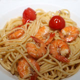 Spaghetti aglio olio Zdjęcia Stock