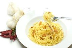 Spaghetti aglio olio e peperoncino Royalty Free Stock Image