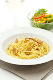 Spaghetti aglio olio e peperoncino Royalty Free Stock Images