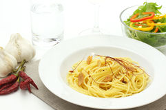 Spaghetti aglio olio e peperoncino Zdjęcie Royalty Free