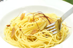 Spaghetti aglio olio e peperoncino Royalty Free Stock Photos