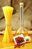 Spaghetti aglio, olio peperoncino e Obrazy Royalty Free
