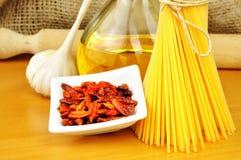 Spaghetti aglio, olio peperoncino e Fotografia Stock